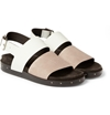 Lanvin Leather And Suede Sandals Mr Porter