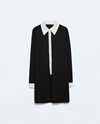 Dress With Contrasting Collar Trf Dresses Woman Zara United States