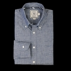 UNIONMADE J Press York St Chambray Button Down Shirt with Patch Pocket in Denim Blue