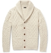 Product J.Crew Cable Knit Wool Blend Shawl Collar Cardigan 398016 Mr Porter