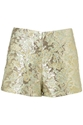 Floral Metallic Green Shorts Smart Shorts Shorts Clothing Topshop