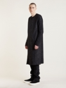 Individual Sentiments Mens Woven Zip Up Long Cardigan Ln Cc