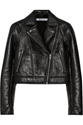 T By Alexander Wang Bonded Textured Leather Biker Jacket Net A Porter.Com