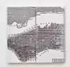 Vintage Map of New York Coasters Map of Manhattan by Tilissimo