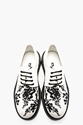 Ann Demeulemeester White Printed Canvas Boot Sole Shoes For Men Ssense