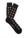 Skull Cotton Blend Socks Alexander Mcqueen Matchesfashion.Com