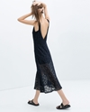 V Back Lace Dress With Lining Dresses Trafaluc Zara United States