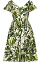 Dolce Gabbana Floral Print Cotton Poplin Dress Net A Porter.Com