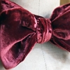 Noeud papillon c3 a0 nouer velours bordeaux