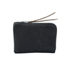 Zip Slim Wallet In Black Horween Utica Leather Made In Usa
