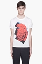 Paul Smith White And Red Rose Print T shirt for men 7c SSENSE