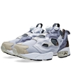 Reebok X Garbstore Instapump Fury Snow Grey White Vista Blue
