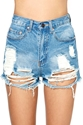 Summer Sky Cutoff Shorts Shop Bottoms At Nasty Gal
