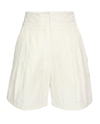 Lanvin Cotton Blend Pique Shorts Browns Fashion Designer Clothes Clothing