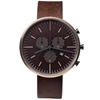 Uniform Wares 302 Series Chronograph Wristwatch Pvd Rose Gold Walnut Brown