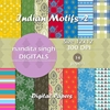 Indian Motifs 2 Instant Download Digital By ... Surface Pattern De
