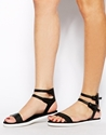 Miss Kg Miss Kg Detroit Black Sandals At Asos