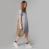 Antipodium South Beach T Shirt Dress Grey Marle Ocelot