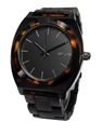 Nixon A3271061 Time Teller Acetate Black Dial Tortoise Bracelet Unisex Watch New 7c eBay