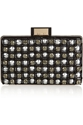 Lanvin Evening Embellished Leather Clutch Net A Porter.Com