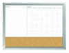 Amazon.Com Board Dudes 18 Inch X 24 Inch Aluminum Framed 3 In 1 Dry Erase Calendar Cork Combo Board 17004 Office Products