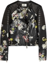 Jade Floral Print Nappa Leather Biker Jacket Shopstyle