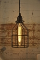 Metal Bulb Guard Lamp Light Cage Pendant Hanging By Moreforlessnyc