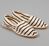 ESPADRILLE SHOES 2c NATURAL AND NAVY STRIPES 3a 3a HICKOREE 27S HARD GOODS