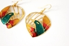 Vintage Edgar Berebi Signed Enamel Earrings By Cutandchicvintage