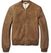 Carven Shearling Lined Suede Bomber Jacket Mr Porter