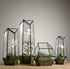 Faceted Glass Terrarium 7c Metal 7c Restoration Hardware