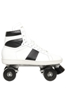 SAINT LAURENT LEATHER SNEAKER STYLE ROLLER SKATES LUISAVIAROMA LUXURY SHOPPING WORLDWIDE SHIPPING FLORENCE
