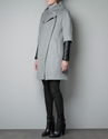 COAT WITH QUILTED FAUX LEATHER SLEEVES Coats Woman ZARA United Kingdom