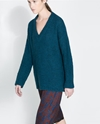 Oversized Wool Sweater Knitwear Woman Zara United Kingdom