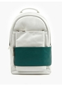 White Green Leather Backpack