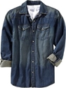 Men 27s Distressed Denim Shirts 7c Old Navy
