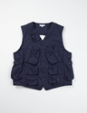 Navy Cotton Weather Poplin C 1 Vest Engineered Garments