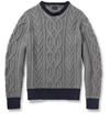 Product J.Crew Cable Knit Crew Neck Cotton Sweater 398061 Mr Porter