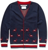 Product White Mountaineering Patterned Wool Cardigan 378527 Mr Porter