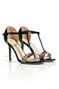 Black c2 a0Leather 2fNatural c2 a0Python c2 a0Sandals c2 a0with c2 a0Green c2 a0Metal c2 a0Back c2 a0by c2 a0SERGIO c2 a0ROSSI 7c Luxury fashion onli