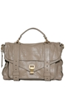 Proenza Schouler Ps1 Medium Lux Leather Satchel Luisaviaroma Luxury Shopping Worldwide Shipping Florence