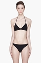 T By Alexander Wang Black Triangle String Bikini Top for women 7c SSENSE