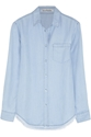 Acne Studios Wave Frayed Denim Shirt Net A Porter.Com