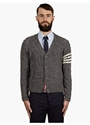 Men's Grey Cable Knit Cardigan