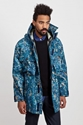 Acne Clark Technical Jacket Blue Marble Tres Bien