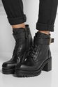 Mcq Alexander Mcqueen Leather Ankle Boots Net A Porter.Com
