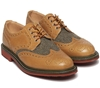 Mark McNairy New Amsterdam x Bodega Olive Wool Country Brogue Shoe Bodega