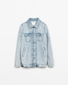 Ripped Denim Jacket Woman New This Week Zara United States