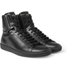 Saint Laurent Leather High Top Sneakers Mr Porter