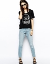 Cheap Monday Cheap Monday Thrift Boyfriend Jeans With Distressing At Asos